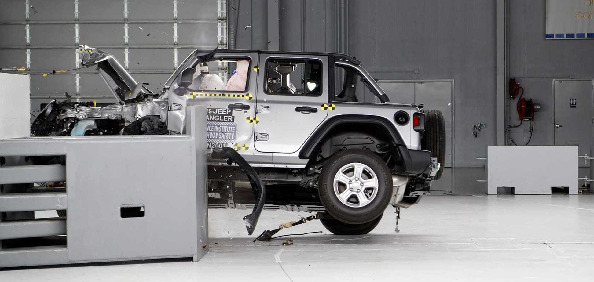 Новый Jeep Wrangler дважды перевернули на тестах