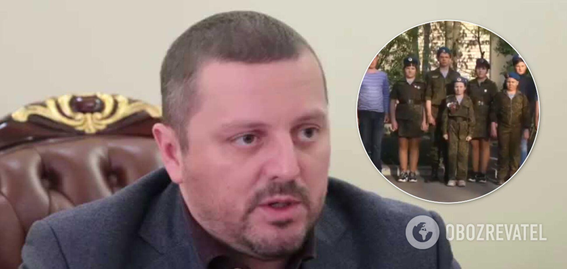В 'ЛНР' дети стихами поздравили главаря 'МВД'. Видео