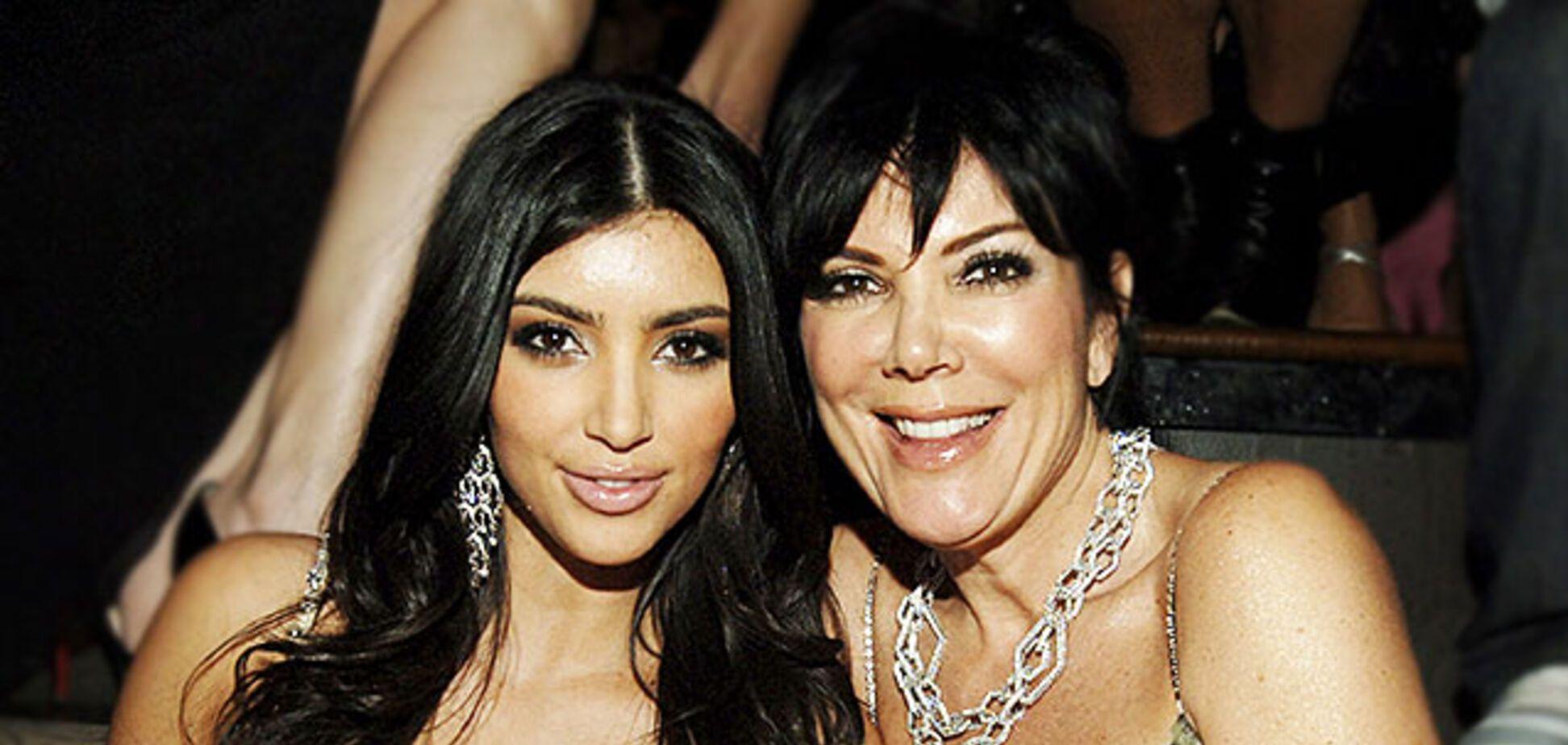 Ким Кардашьян с матерью