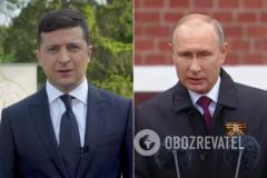 У мережі порівняли промови Путіна і Зеленського до 9 травня. Відео