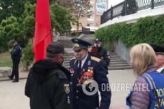 'Украины нет, есть колония!' На Запорожье пенсионер устроил скандал из-за 9 мая. Видео 18+