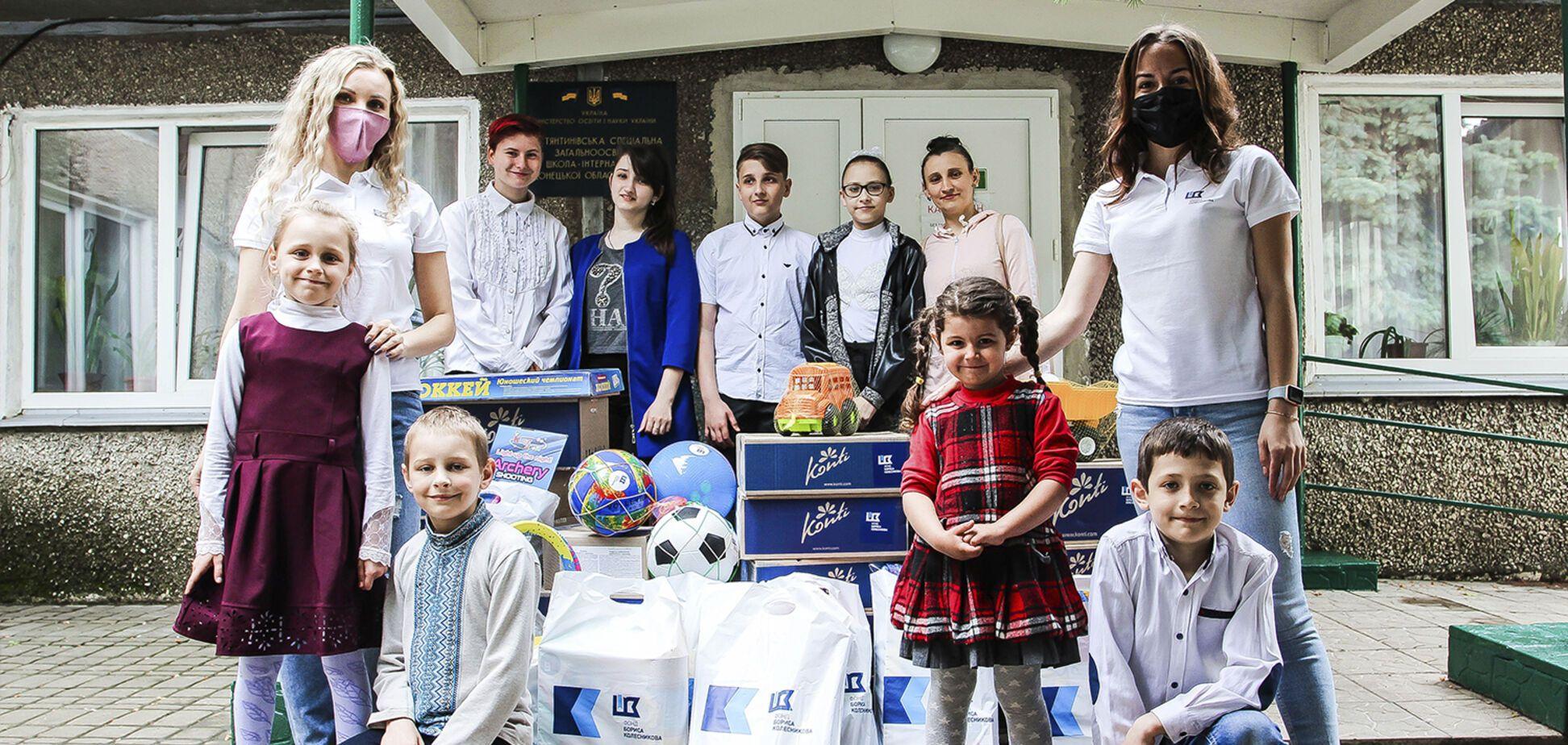 День захисту дітей на Донеччині: подарунки і привітання від благодійників і хокеїстів