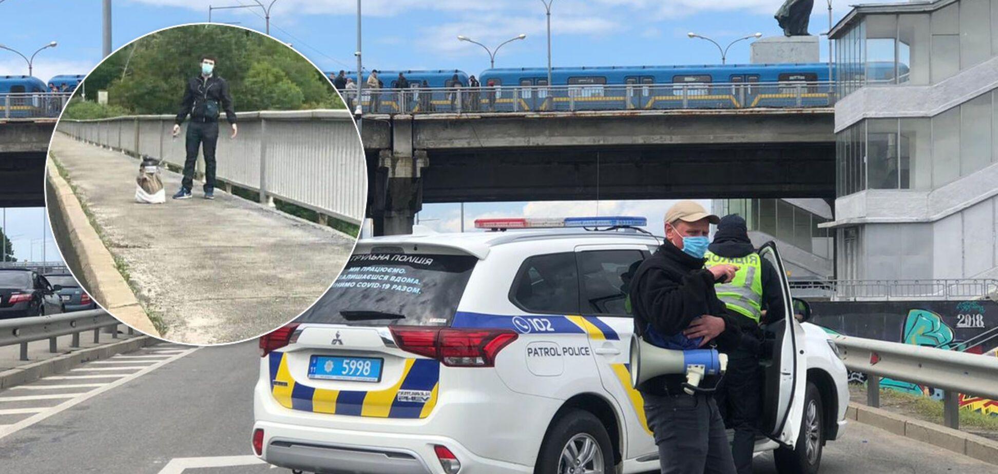 У поліції повідомили всі подробиці про 'мінера' моста Метро в Києві