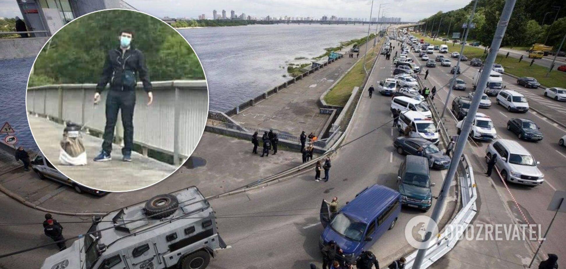 'Минер' моста Метро был неадекватен: полиция озвучила детали