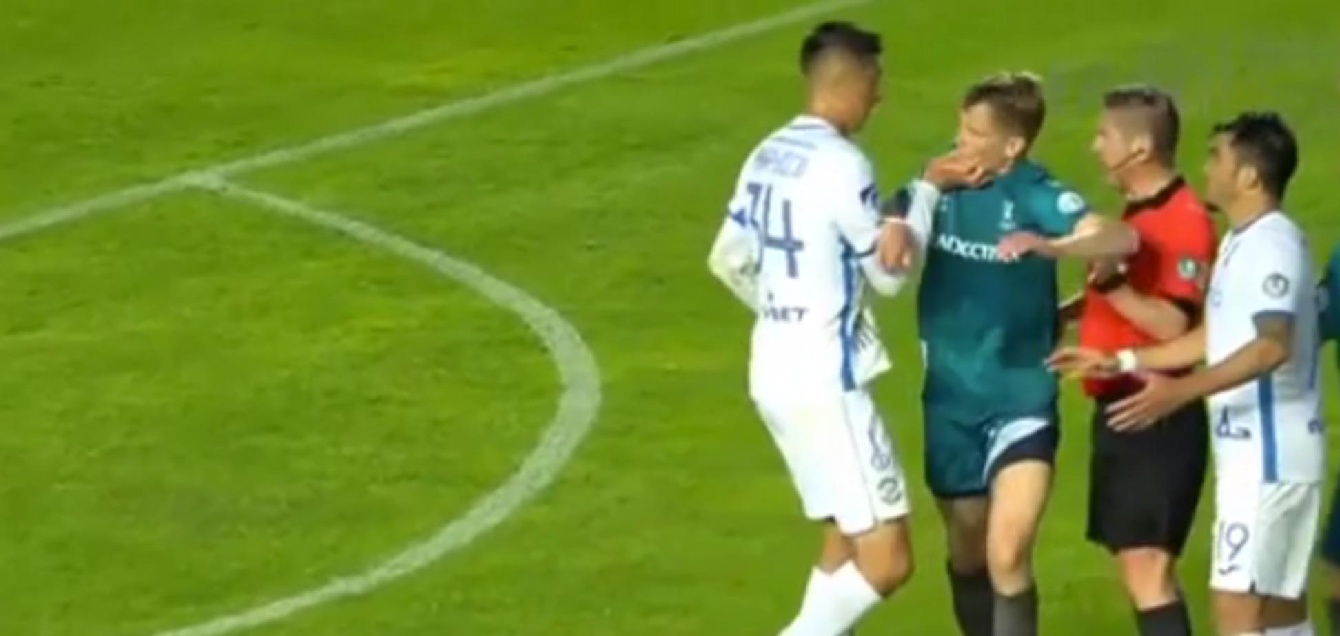 Евгений Хачериди схватил соперника за лицо