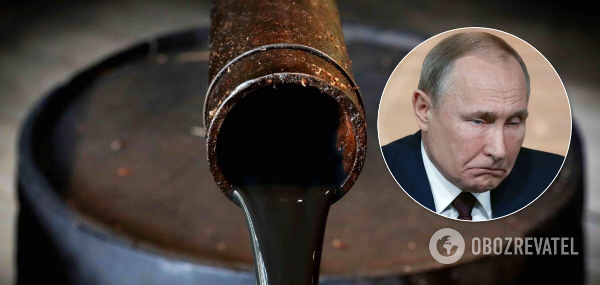 Доходи Росії від продажу нафти впали вдвічі