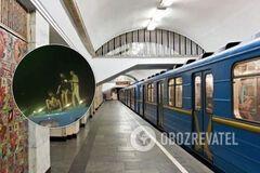 В Киеве подростки бегали по вагону метро: их наказали пассажиры. Видео