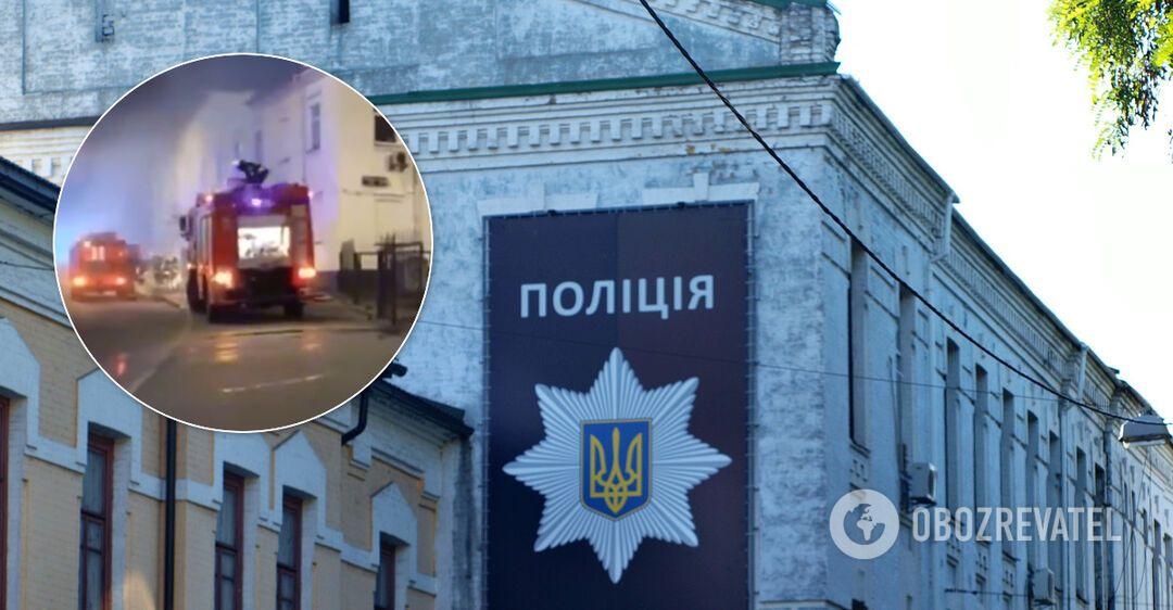 В Киеве чуть не сгорело здание ГСУ Нацполиции: под угрозой резонансные дела. Видео