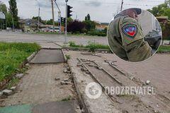 В оккупированном Донецке с улиц начали воровать тротуарную плитку: фотофакт