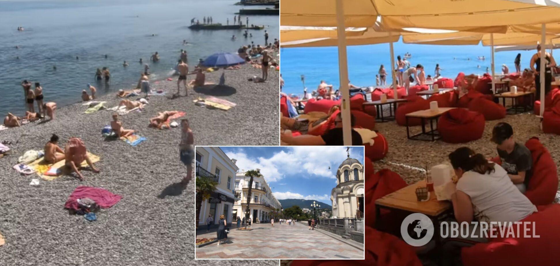 У Криму відкрили курортний сезон: в мережі показали 'переповнені' пляжі. Відео