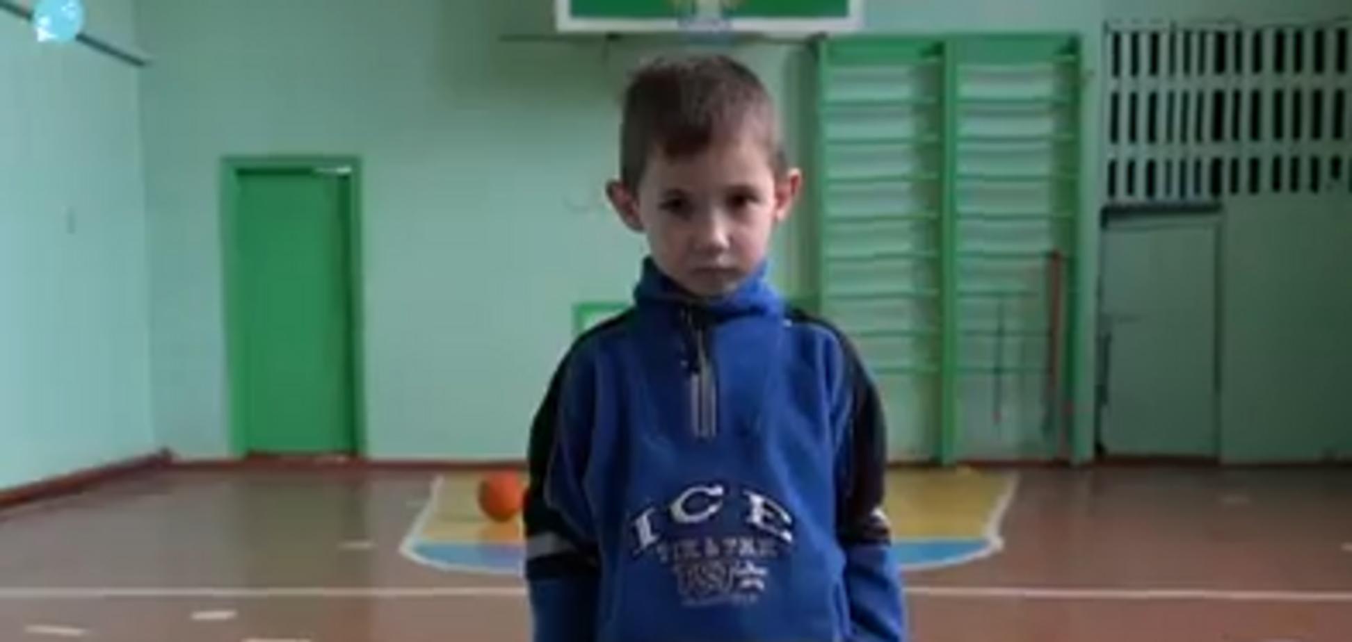 Шестилетний мальчик с Донбасса рассказал о жизни на линии фронта. Видео