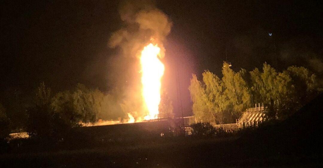 В России взорвалось газохранилище: есть погибший и пострадавшие. Видео огненного факела