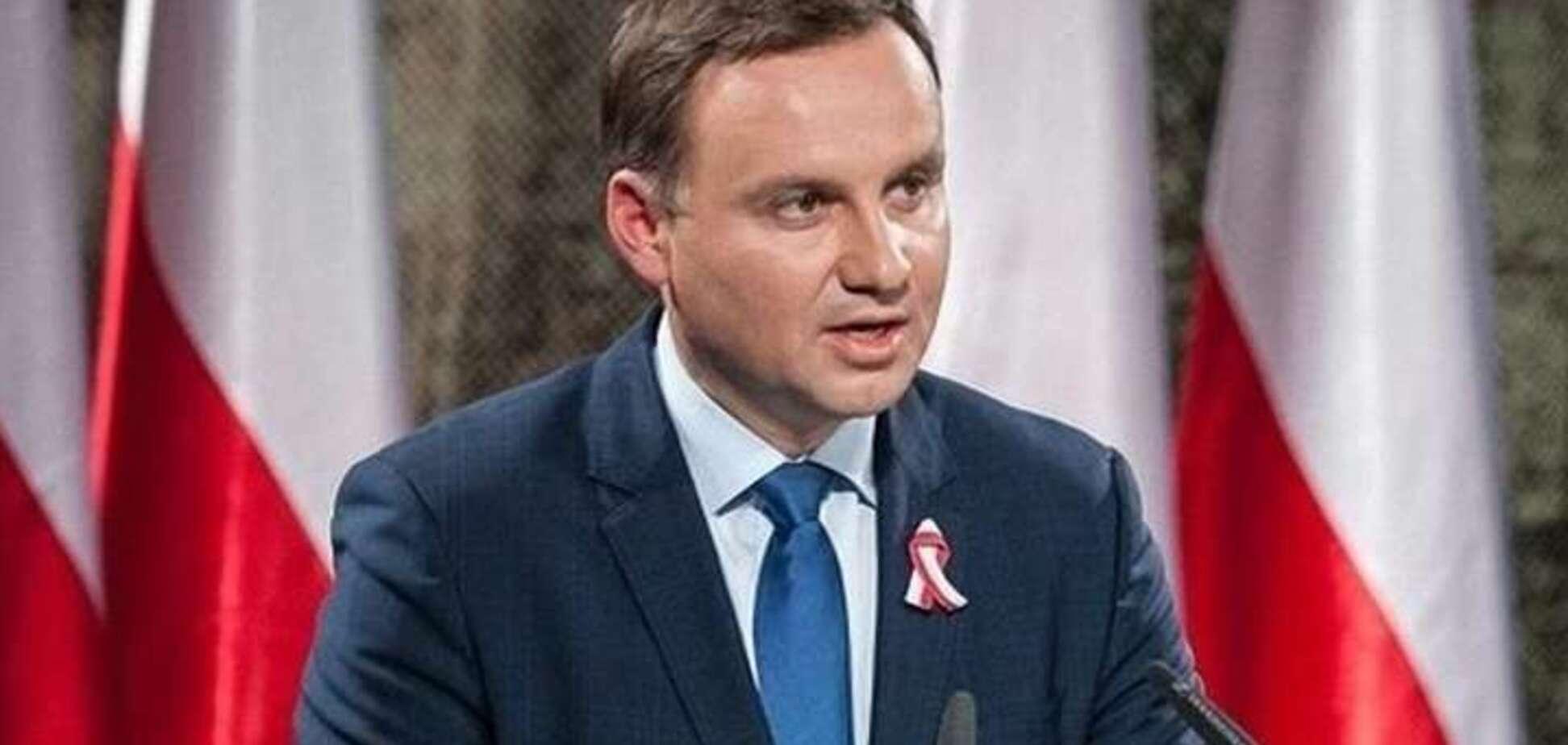 Дуда вступился за Украину из-за агрессии России