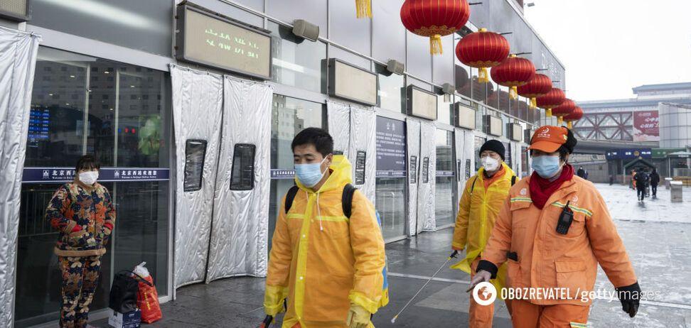 COVID-19 на рынке в Пекине