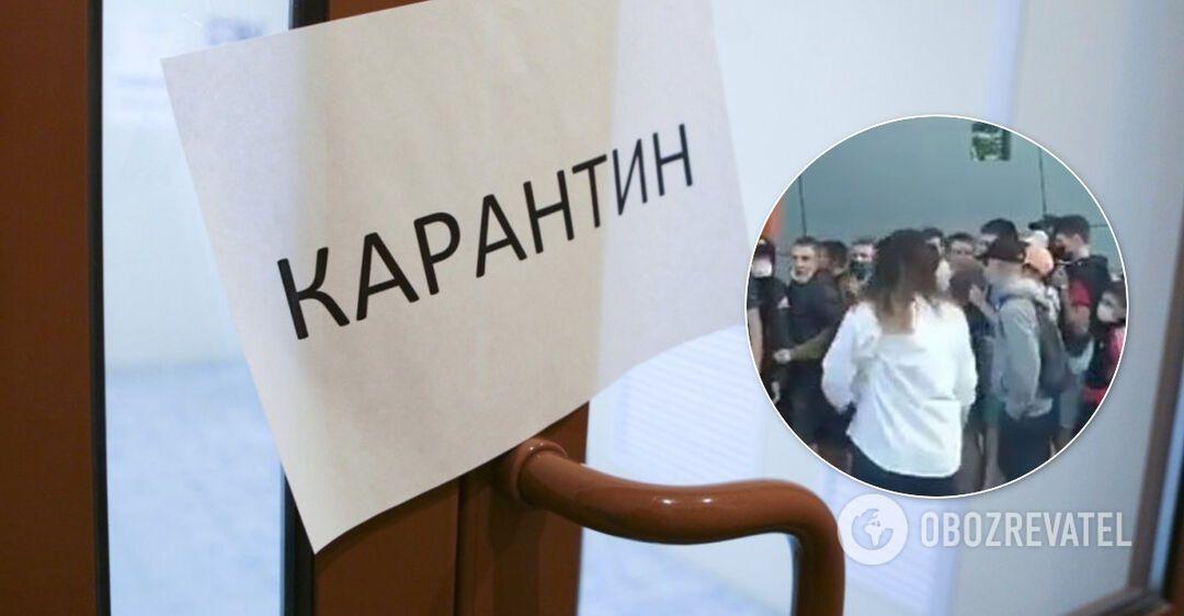 На Львовщине люди забили на карантин и штурмовали секонд-хенд. Видео