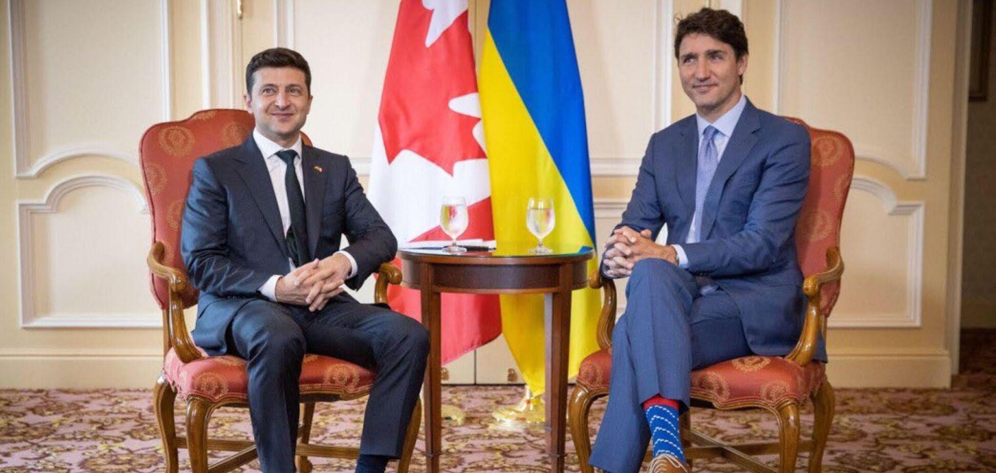 Володимир Зеленський на зустрічі з Джастіном Трюдо