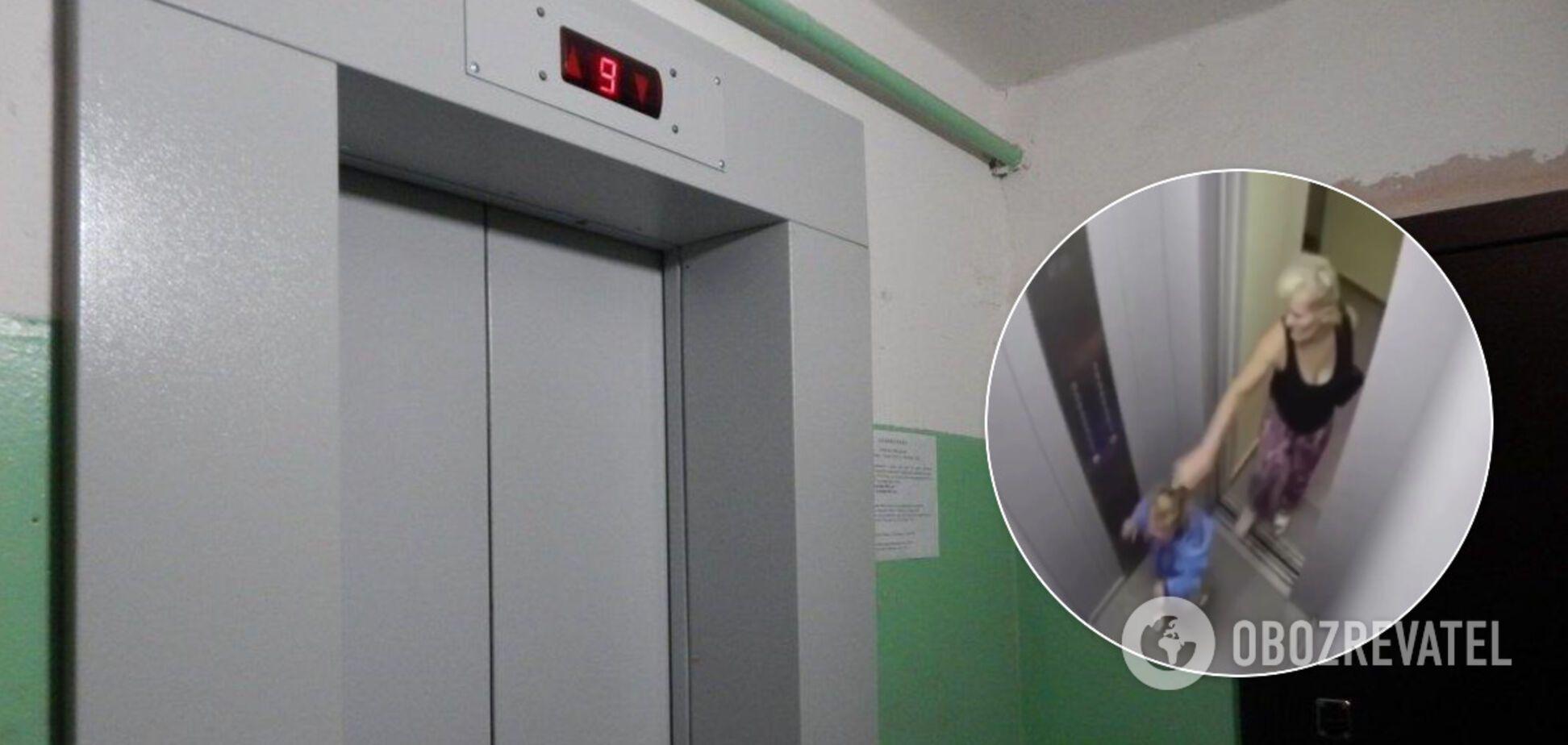 Россиянка избила в лифте маленькую девочку