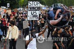 Темнокожий мужчина спас белого на протесте Black Lives Matter