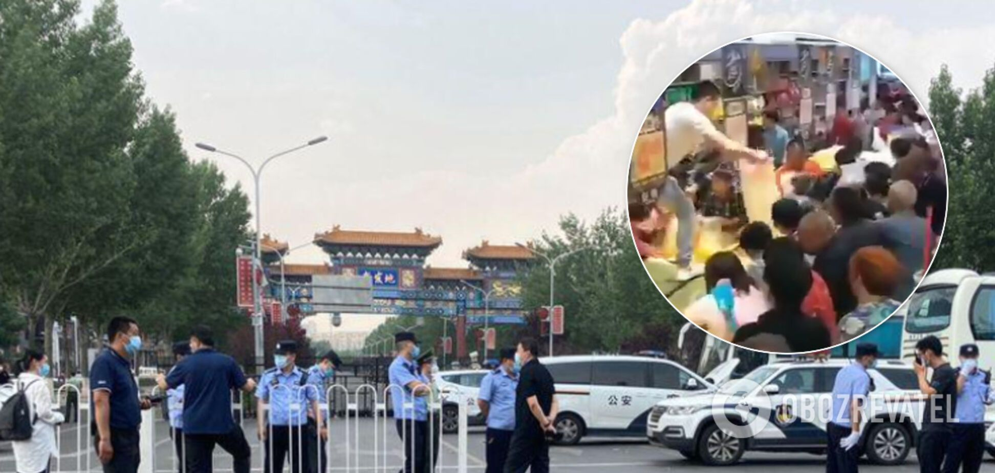 Пекин ввел режим ''военного времени'' из-за вспышки COVID-19: люди атаковали супермаркет. Видео