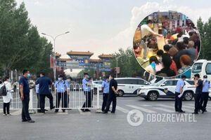 Пекін ввів режим 'воєнного часу' через спалах COVID-19: люди атакували супермаркет. Відео