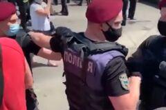 В Киеве протестующие подрались с полицией из-за строительства Подольского моста. Видео