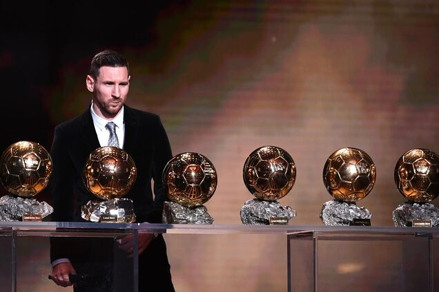 Лионель Месси и его шесть 'Золотых мячей'