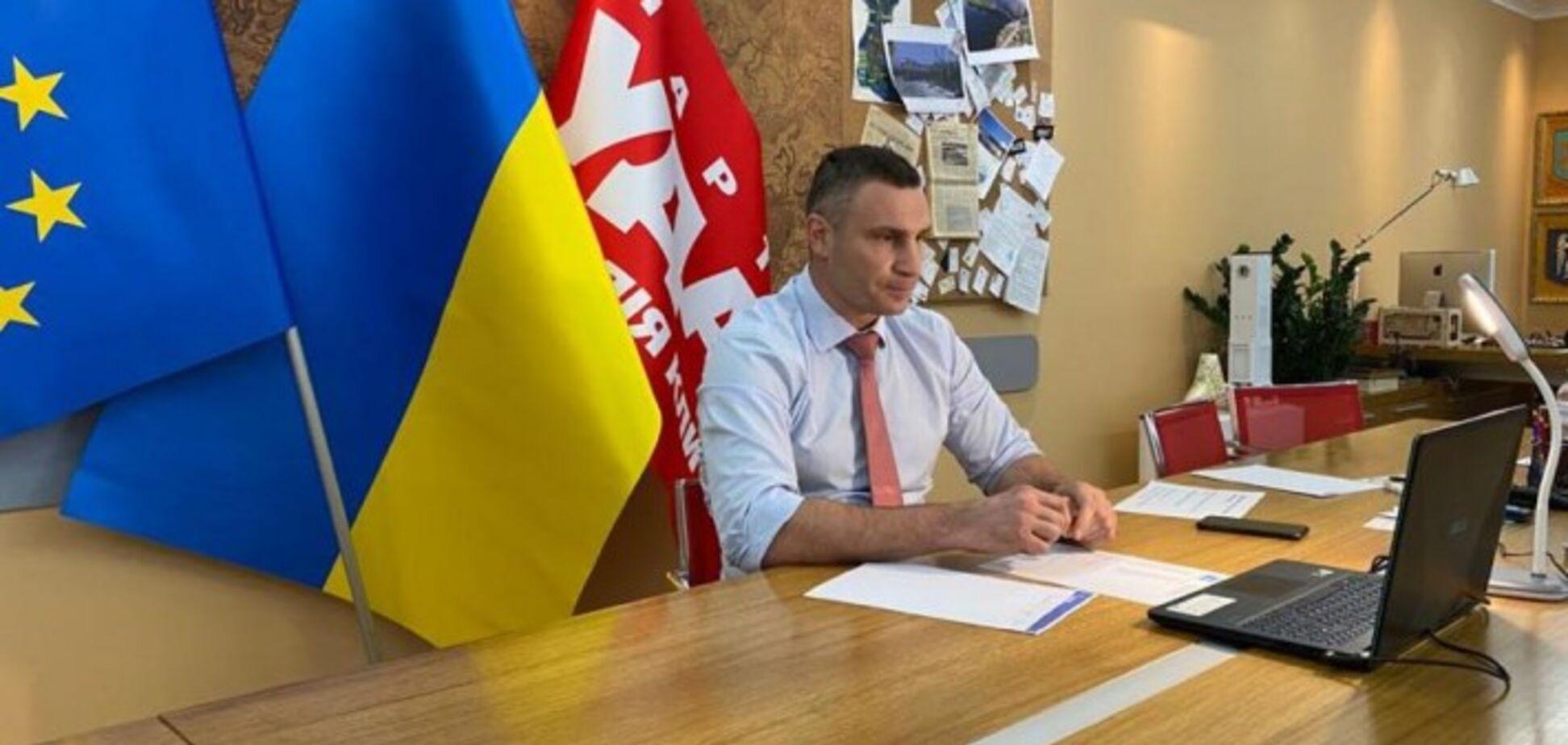 Кличко взяв участь у відеоконференції лідерів партій країн-членів Східного партнерства та ЄНП