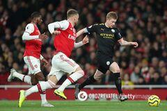 'Манчестер Сити' разгромил 'Арсенал' в матче первого круга со счетом 3:0