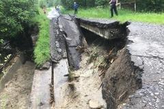 на Закарпатье рухнул мост