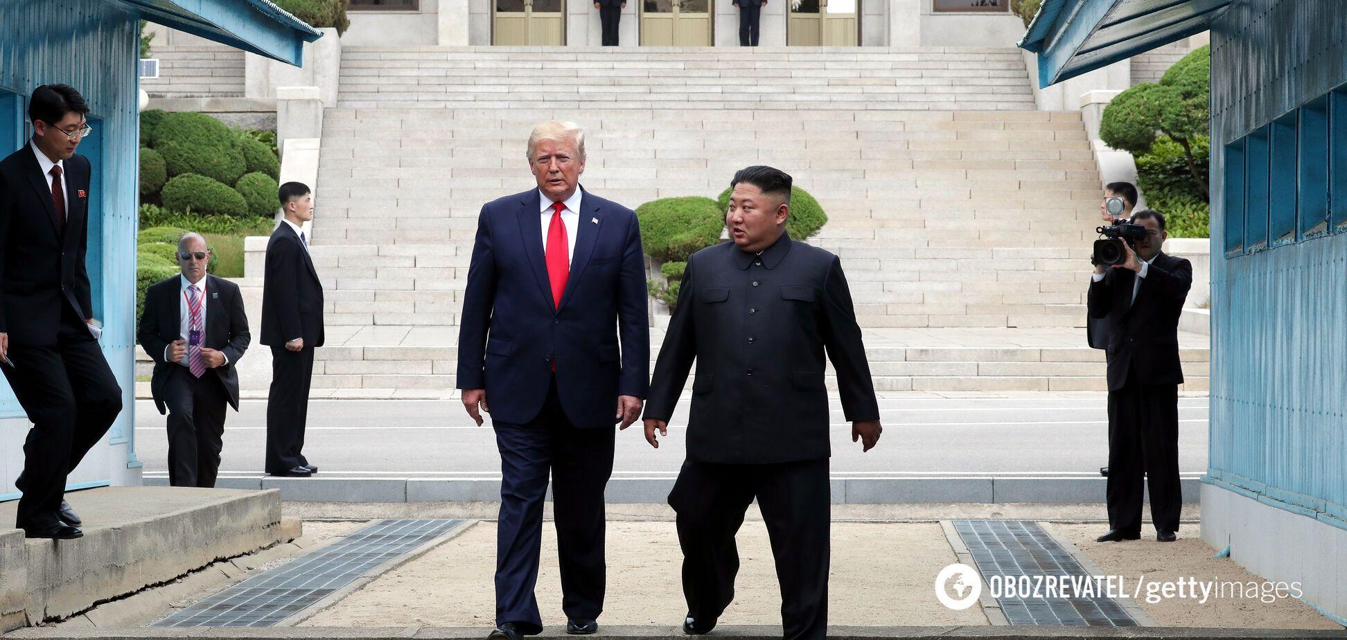 Дональд Трамп во время визита в КНДР