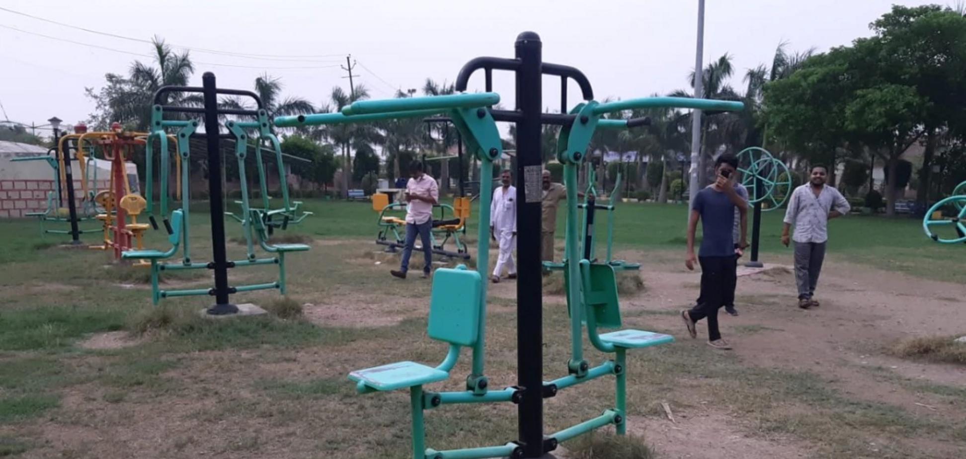 Тренажер в Индии, на котором заподозрили призрак