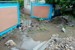 В селе Клембовка ливень залил дома и размыл дорогу