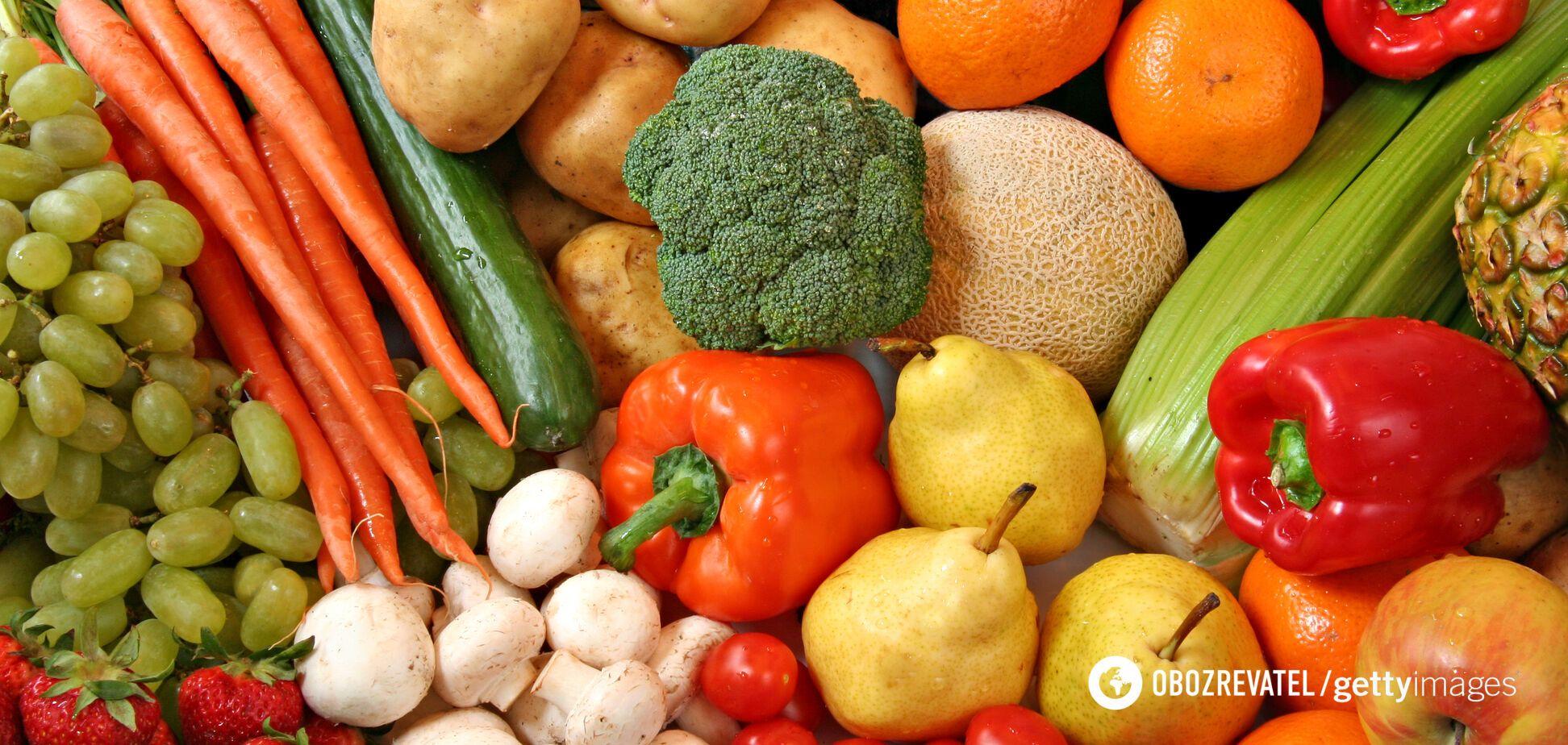 Овощи содержат меньше калорий, чем фрукты