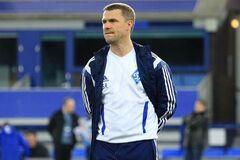Сергей Ребров во время тренерской работы с 'Динамо'