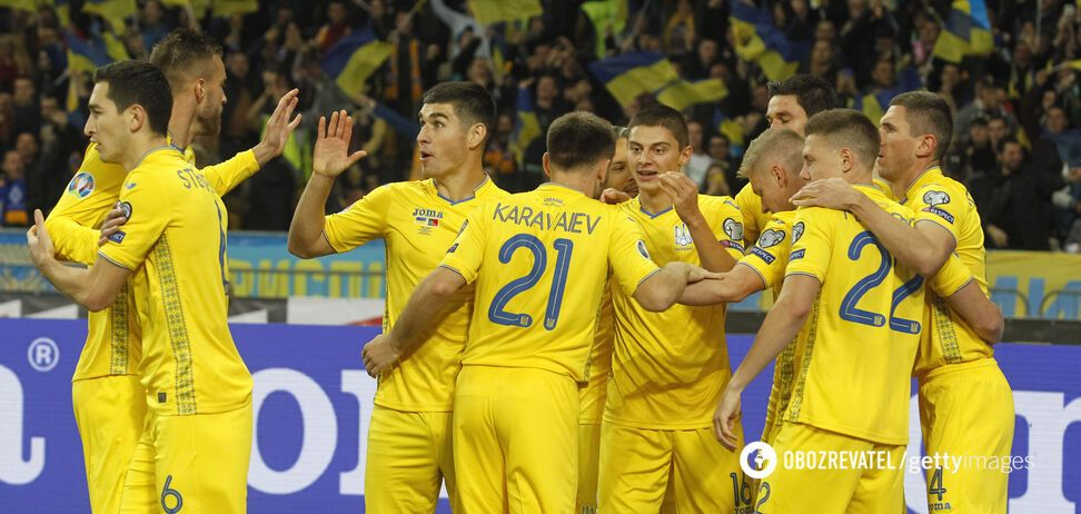 Збірна України святкує гол у ворота Португалії в відборі на Євро-2020