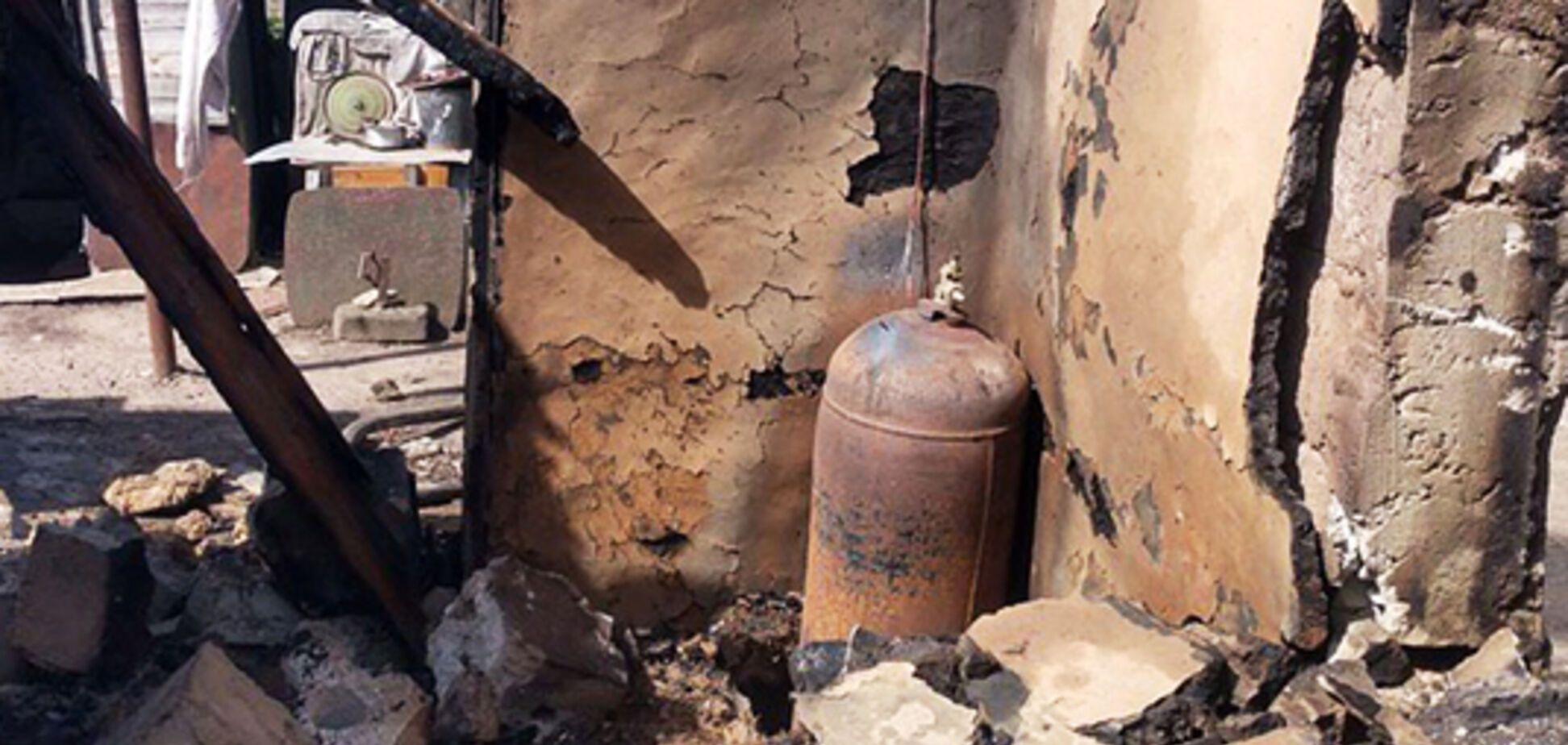 На Днепропетровщине во время пожара серьезно обгорел мужчина. Фото с места ЧП
