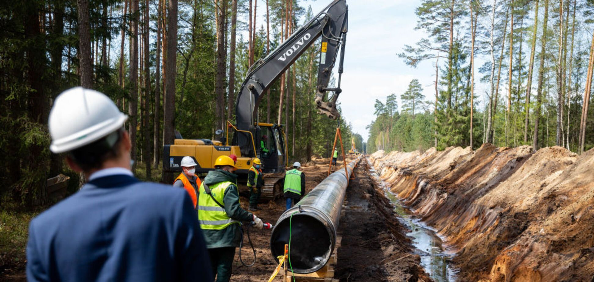 Строительство польско-литовского газопровода GIPL