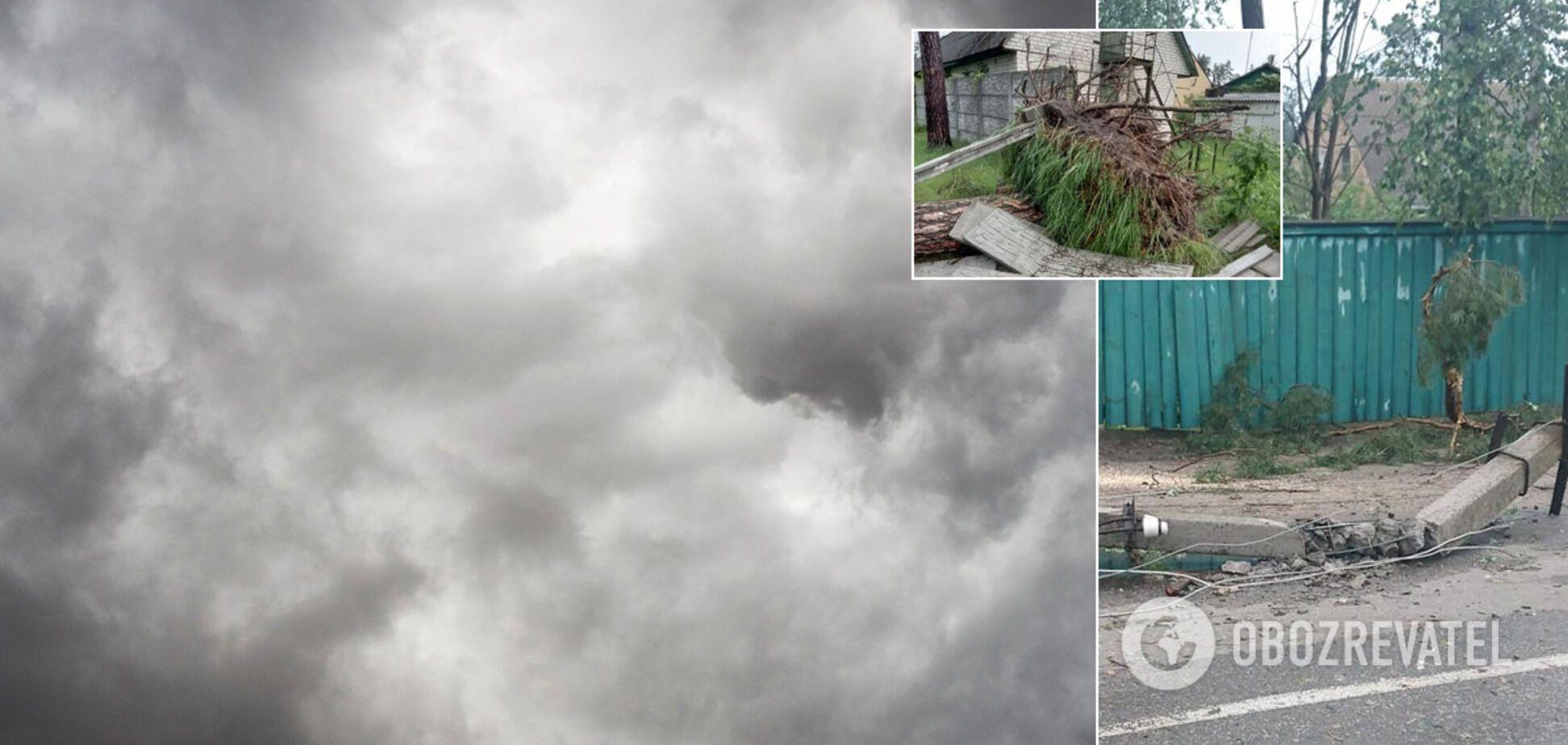 В Киевской области пронесся мощный ураган