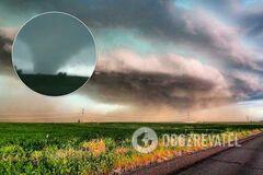 На Донетчине пронесся мощный торнадо: фото и видео необычного явления