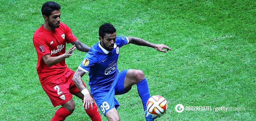 Матеус в финале Лиги Европы против 'Севильи'