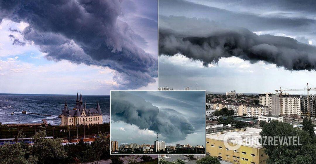 Туча в Одессе удивила местных жителей
