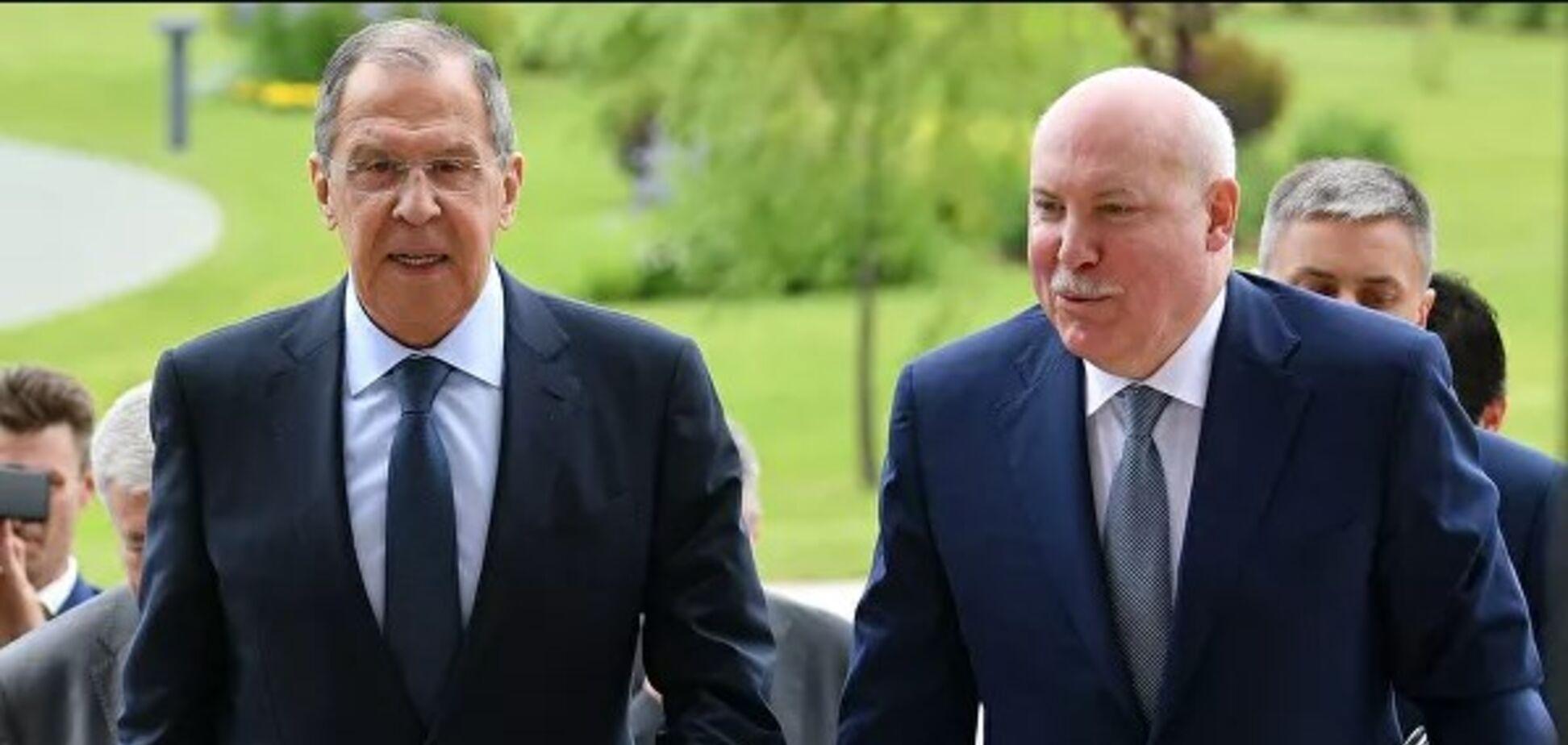 Глава МД РФ Сергей Лавров и глава МИД РБ Владимир Макей