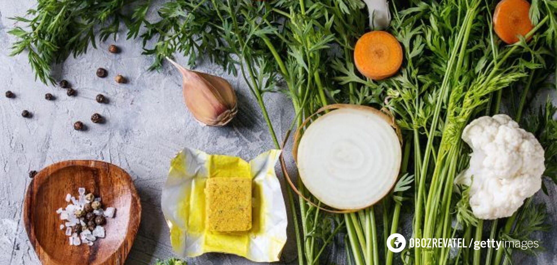 Як приготувати овочевий бульйонний кубик