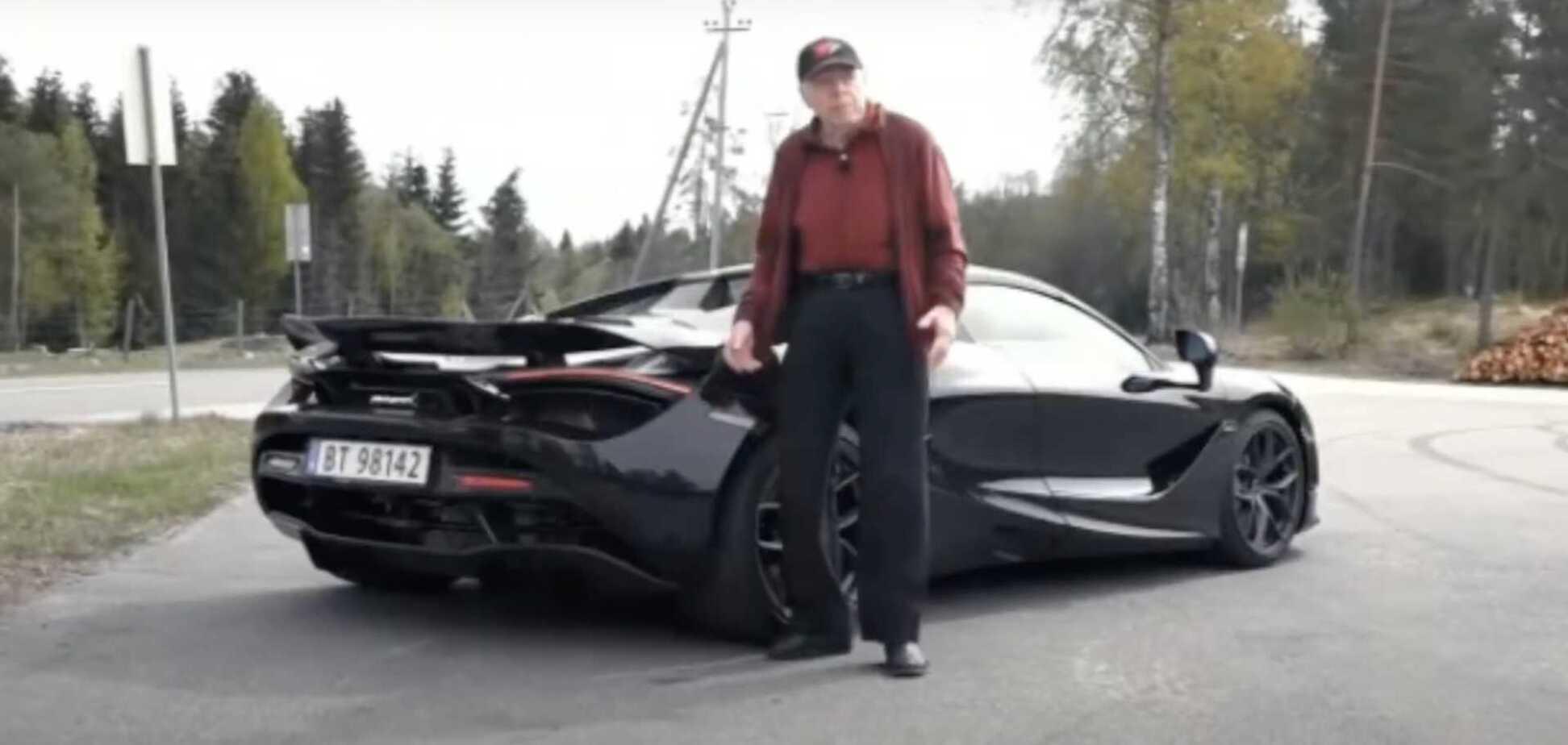 78-летний дедушка каждый день ездит на суперкаре за $400 000