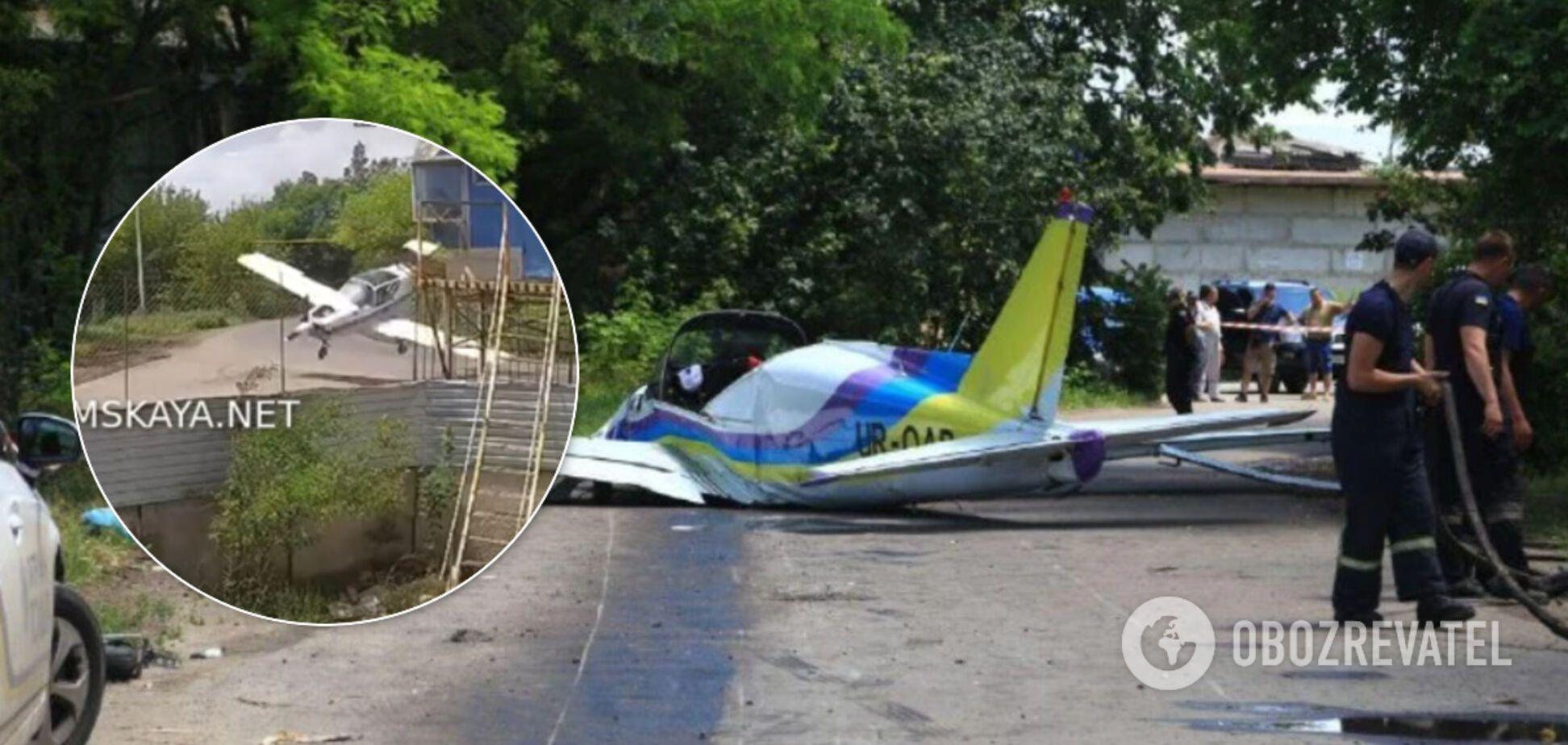 Момент падіння літака в Одесі потрапив на відео