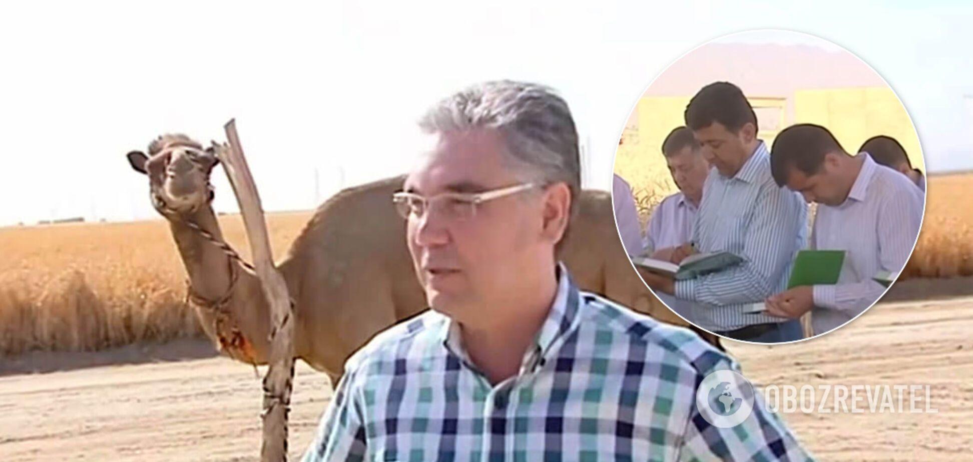 Бердимухамедов змусив аграріїв записувати приказки в блокнот. Відео