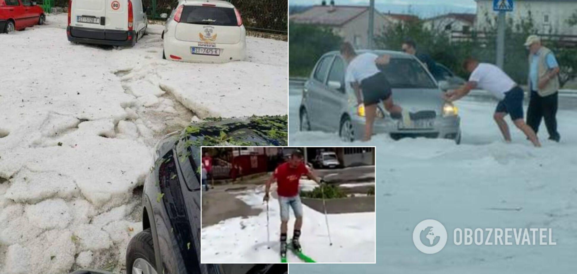 У Хорватії випав сніг