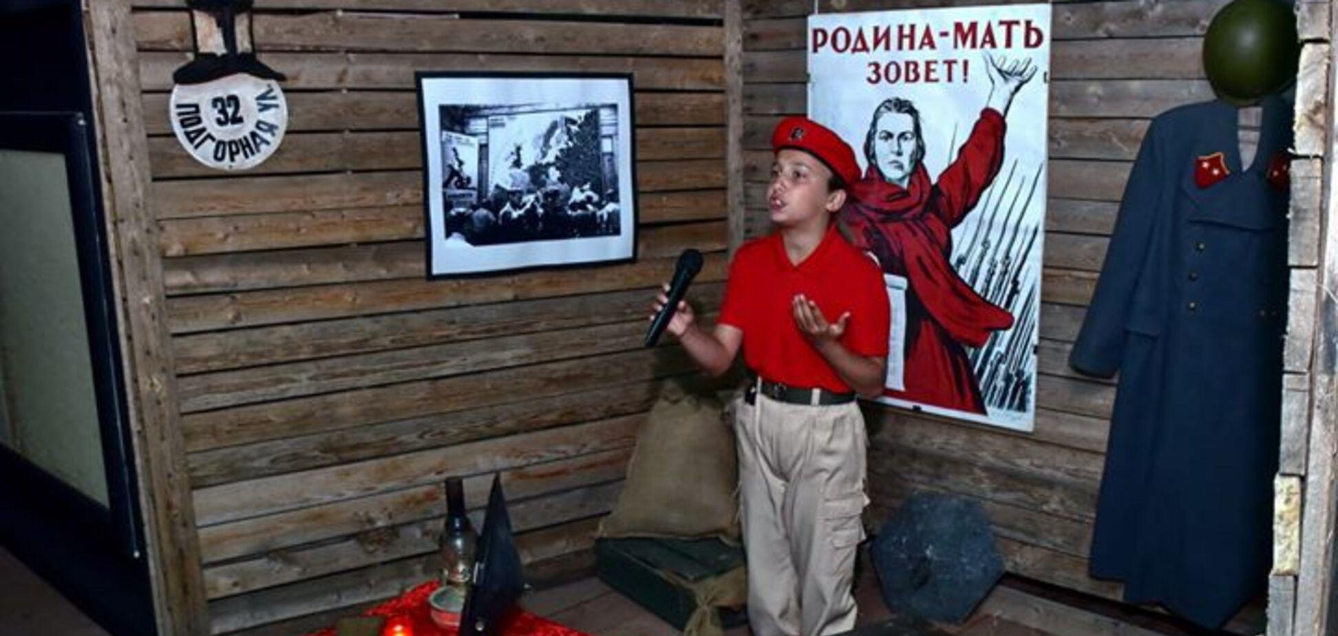 Оккупанты устроили пропагандистскую акцию в Крыму (источник: Facebook Анатолия Штефана)