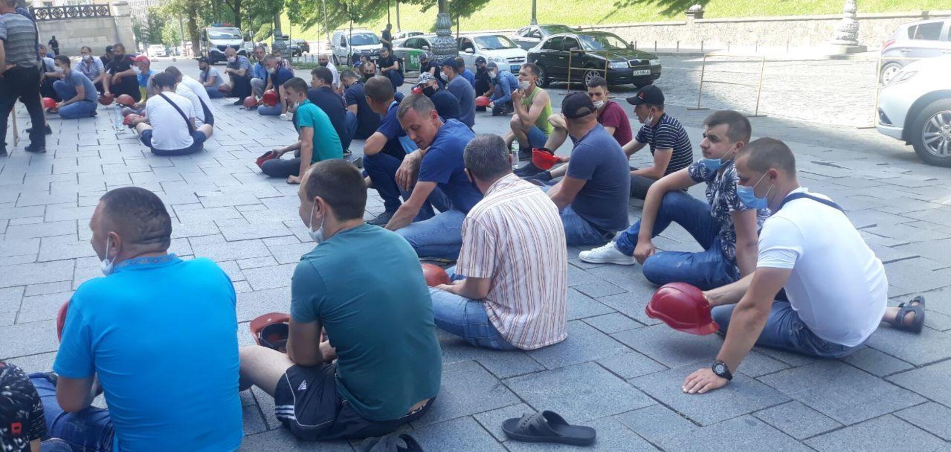 У Києві мітингують шахтарі (Фото: Факти)