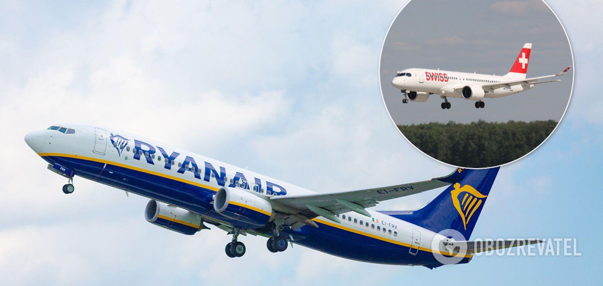 Ryanair и Swiss возобновили полеты в Украину